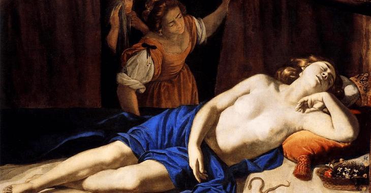 """Cleopatra"" di Artemisia Gentileschi"