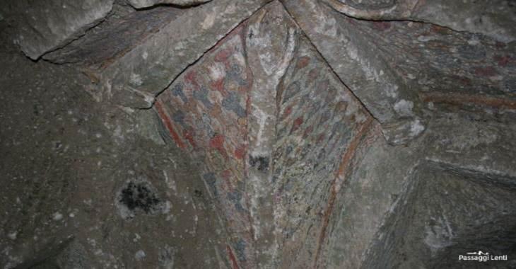Immagine di Cristo, particolare all'interno dell'eremo di Poggio Conte