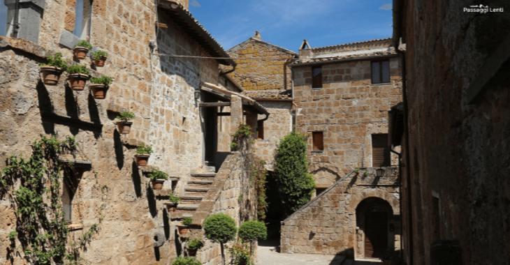 Scorcio del centro storico di Civita di Bagnoregio