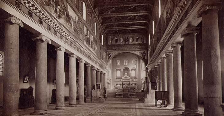 Roma - San Lorenzo fuori le mura nel 1938