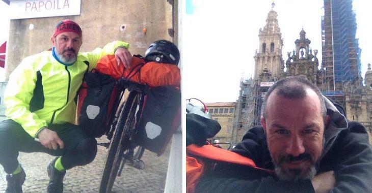 Andrea e la sua bici fino a Santiago
