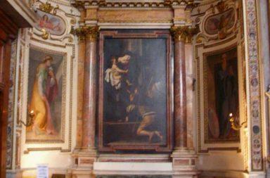 Cappella Cavalletti con la Madonna dei Pellegrini di Caravaggio