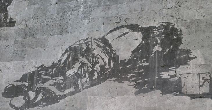 Trionfi e Lamenti. Pasolini sul murales del Lungotevere