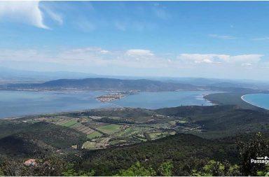 La laguna di Orbetello vista dal Monte Argentario
