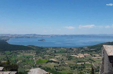 Rocca dei Papi a Montefiascone, vista sul lago di Bolsena