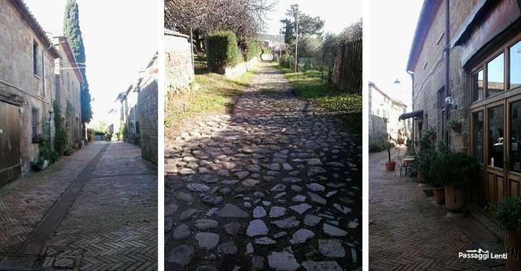 Scorci del centro storico del borgo toscano