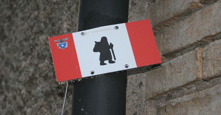 ll segnale della Via Francigena