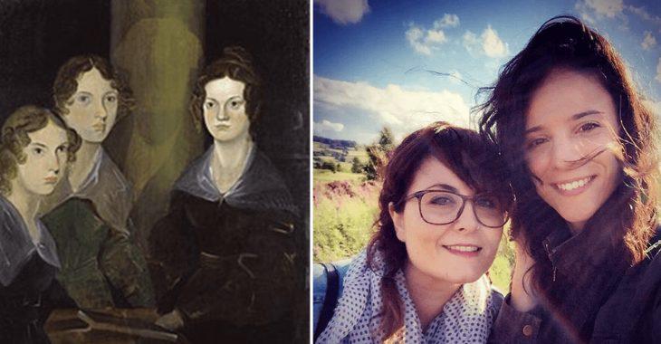 A sinistra le Sorelle Bronte. A destra le autrici del blog
