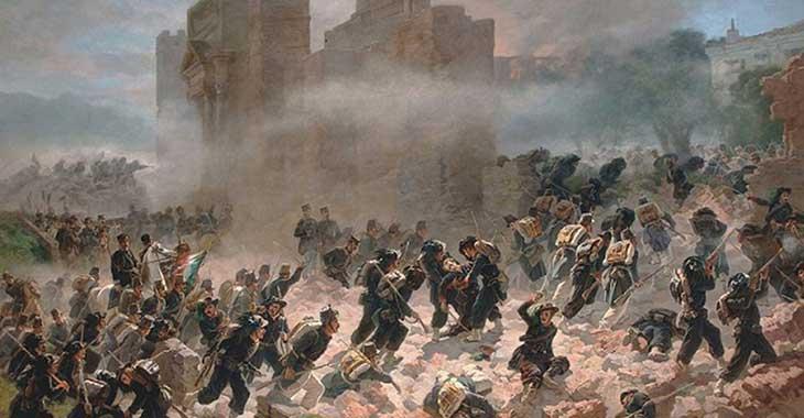 Breccia di Porta Pia in un dipinto di Carlo Ademollo