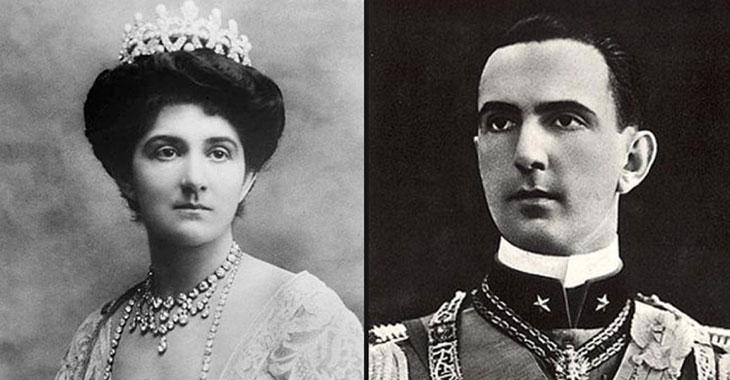 Elena di Savoia e il figlio, il principe ereditario Umberto