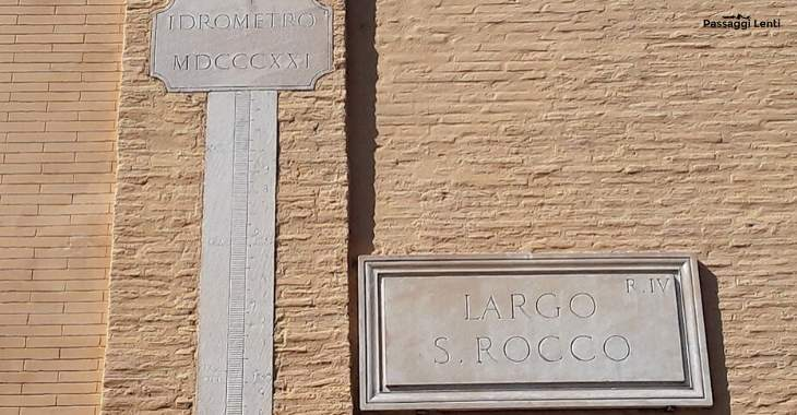 Inondazioni del Tevere: idrometro in Largo S. Rocco