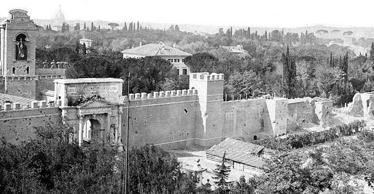 Breccia di Porta Pia, le mura aureliane
