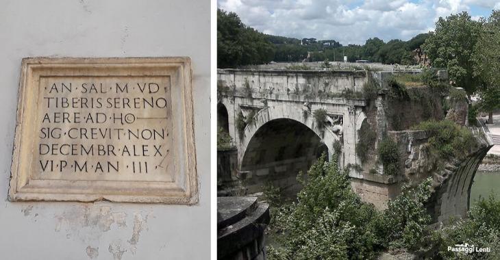 L'iscrizione a Piazza della Minerva e Ponte Rotto