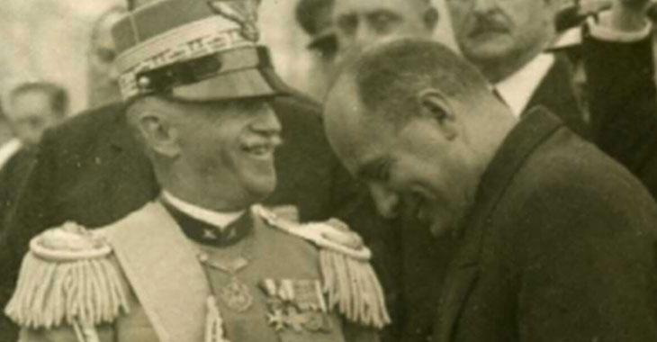 Vittorio Emanuele III e Benito Mussolini