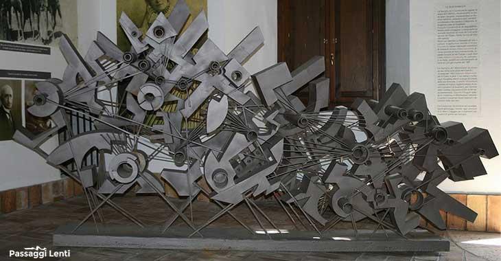 Una delle sculture del Maestro Umberto Mastroianni esposta nella Fondazione Mastroianni
