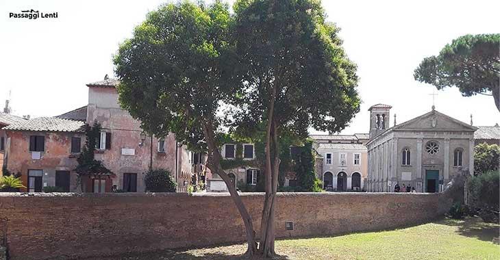La cinta muraria del Borgo di Ostia Antica