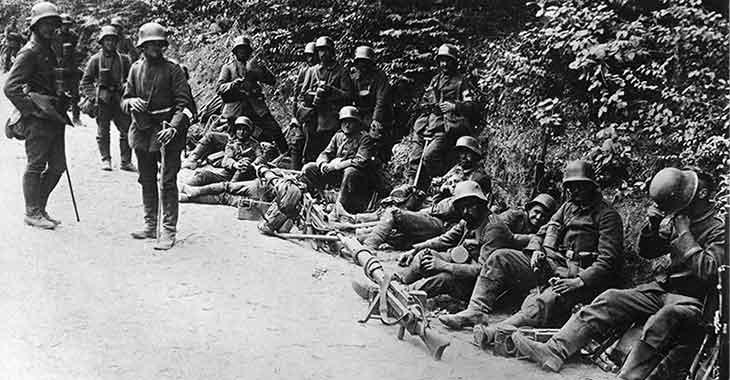 Caporetto, truppe d'assalto tedesche