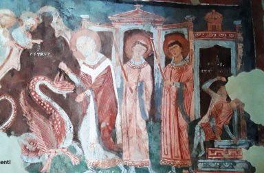 Borgo di Ceri, affreschi nella Chiesa di Santa Maria Immacolata