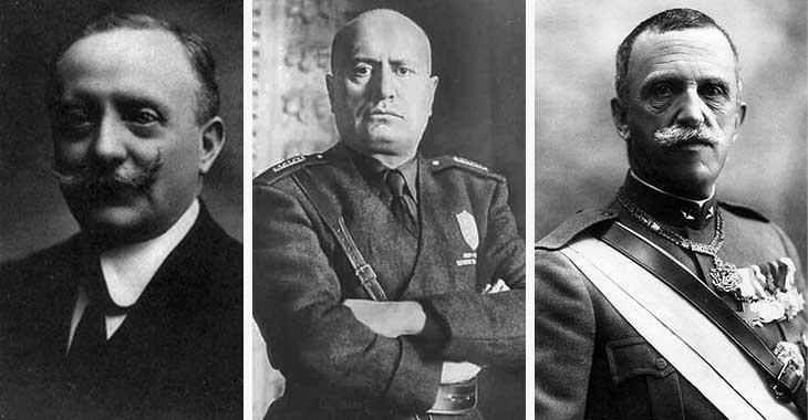 Mussolini, Facta, Vittorio Emanuele III