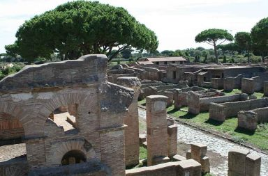 Ostia Antica. Veduta del parco archeologico