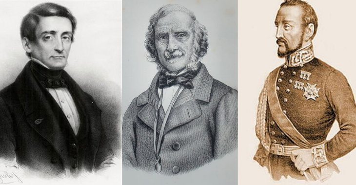 Protagonisti dei moti del 1848: Pellegrino Rossi, Terenzio Mamiani della Rovere e il generale Giacomo Durando