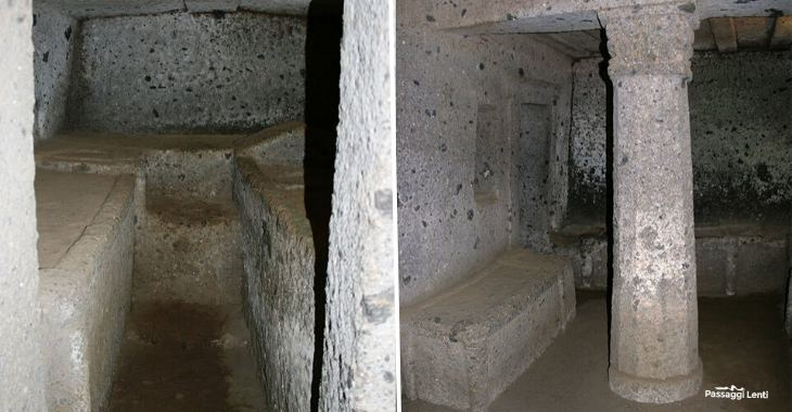 Necropoli Ceveteri. Tomba dei Capitelli