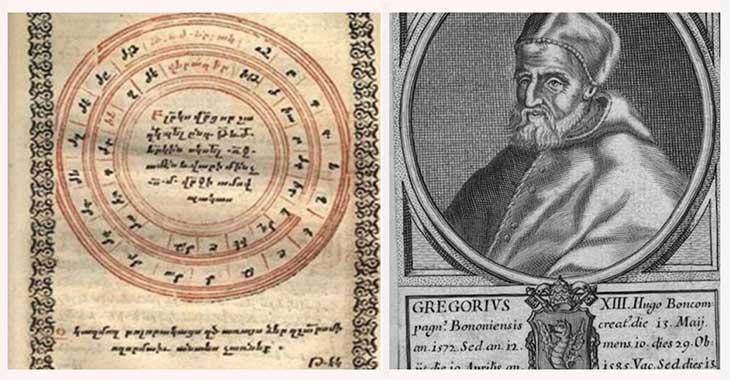 Calendario Gregoriano, istituito nel 1582 da Gregorio XIII