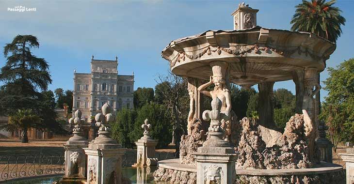 Villa Pamphili, in fondo il Casino del Bel Respiro