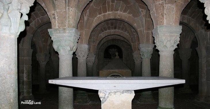 Acquapendente, la cripta della Basilica del Santo Sepolcro