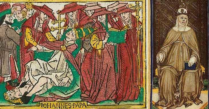 La Papessa ritratta su una carta dei Tarocchi Visconti-Sforza