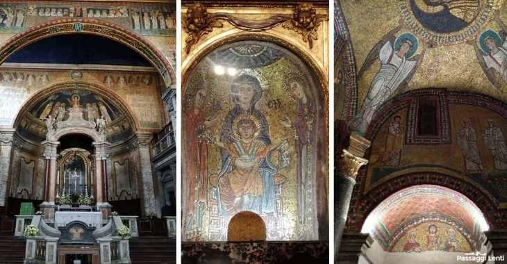 Interno della basilica di Santa Prassede