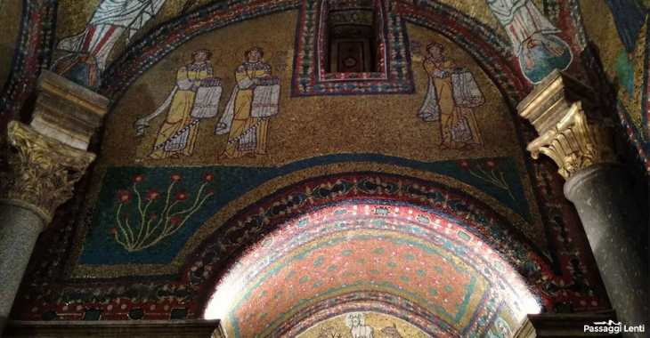 Basilica di S. Prassede. Particolare dei mosaici della Cappella di Zenone