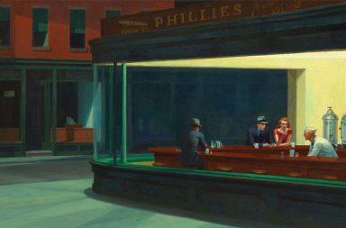 Nighthawks (I nottambuli) di Edward Hopper (1942)