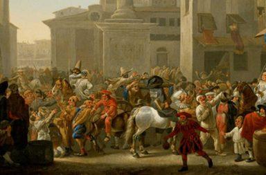 Carnevale Romano in una raffigurazione di Johannes Lingelbach