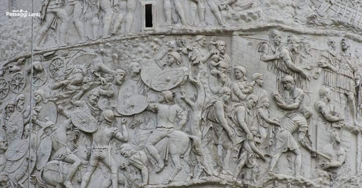 Colonna Traiana, particolare