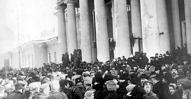 Rivoluzione russa di febbraio. La folla davanti alla Duma