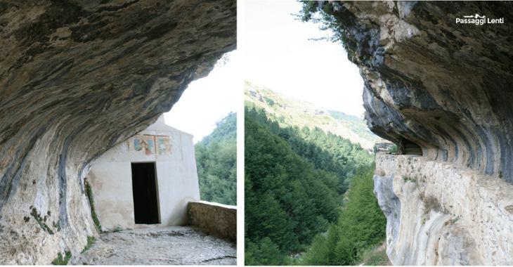 L'eremo di San Bartolomeo in Legio ripreso da due angolazioni