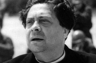 """Fucilazione a Forte Bravetta di Don Piero Morosini interpretato da Piero Fabrizi in """"Roma Città Aperta"""""""