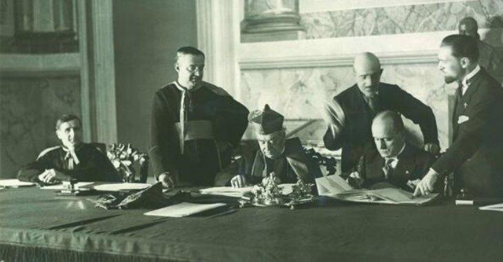 La firma dei Patti Lateranensi
