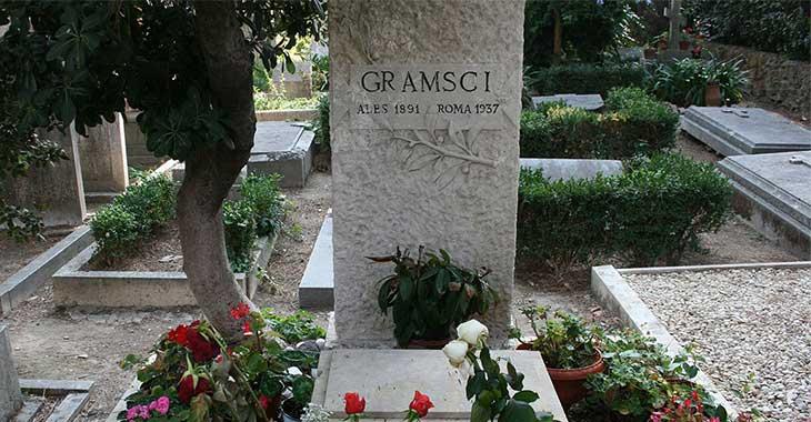 Tomba di Antonio Gramsci al cimitero acattolico di Roma
