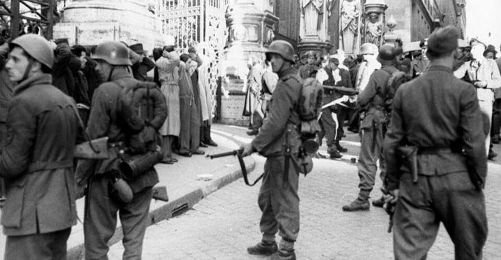 Retata di fronte a Palazzo Barberini, da parte di truppe tedesche e della RSI, dopo l'attentato di Via Rasella