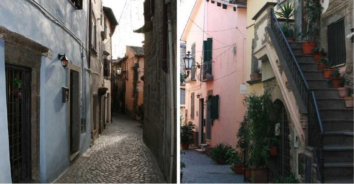 Trevignano Romano. Due scorci del centro storico