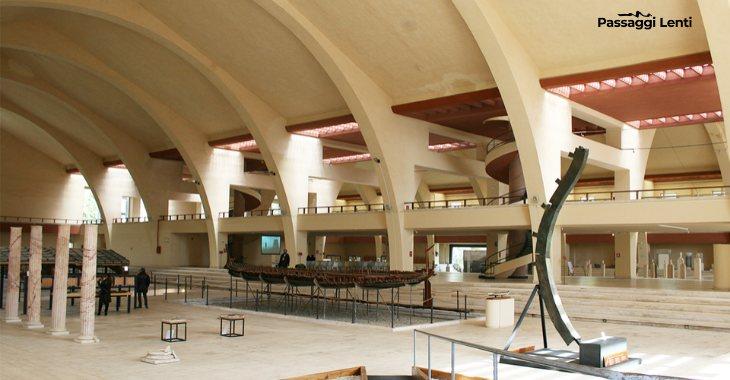L'interno del Museo delle Navi Romane di Nemi