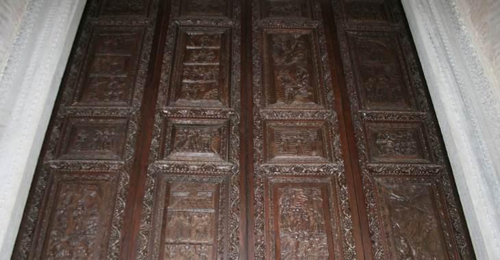 Il portale della Basilica di Santa Sabina a Roma