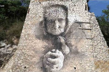 Murales a Marcellina in direzione Prato Favale