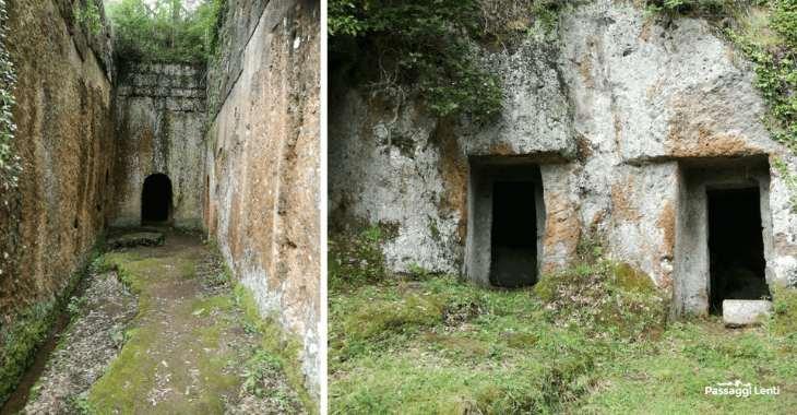 Tombe etrusche nella necropoli di San Giuliano