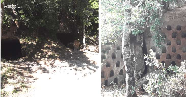 Vitozza, le grotte scavate nel tufo e i colombari