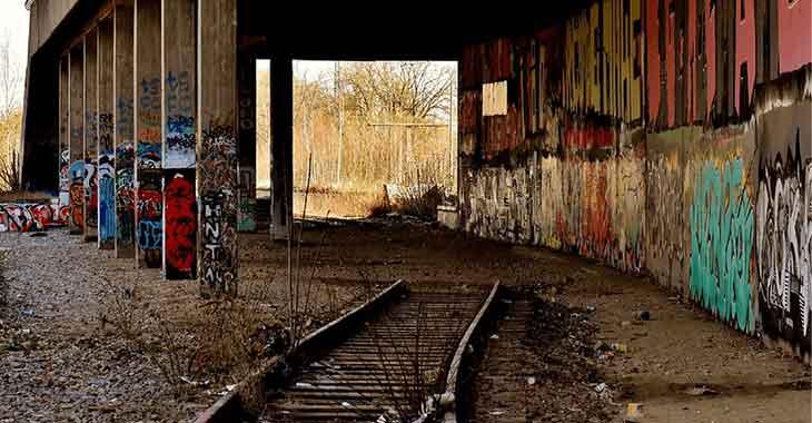 Un esempio di Geisterbahnhof, le stazioni fantasma ai tempi del Muro di Berlino