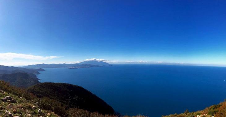 Trekking sull'isola d'Elba: il panorama