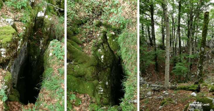 Pozzo della Croce, una delle grotte in prossimità della cima del Monte Capreo